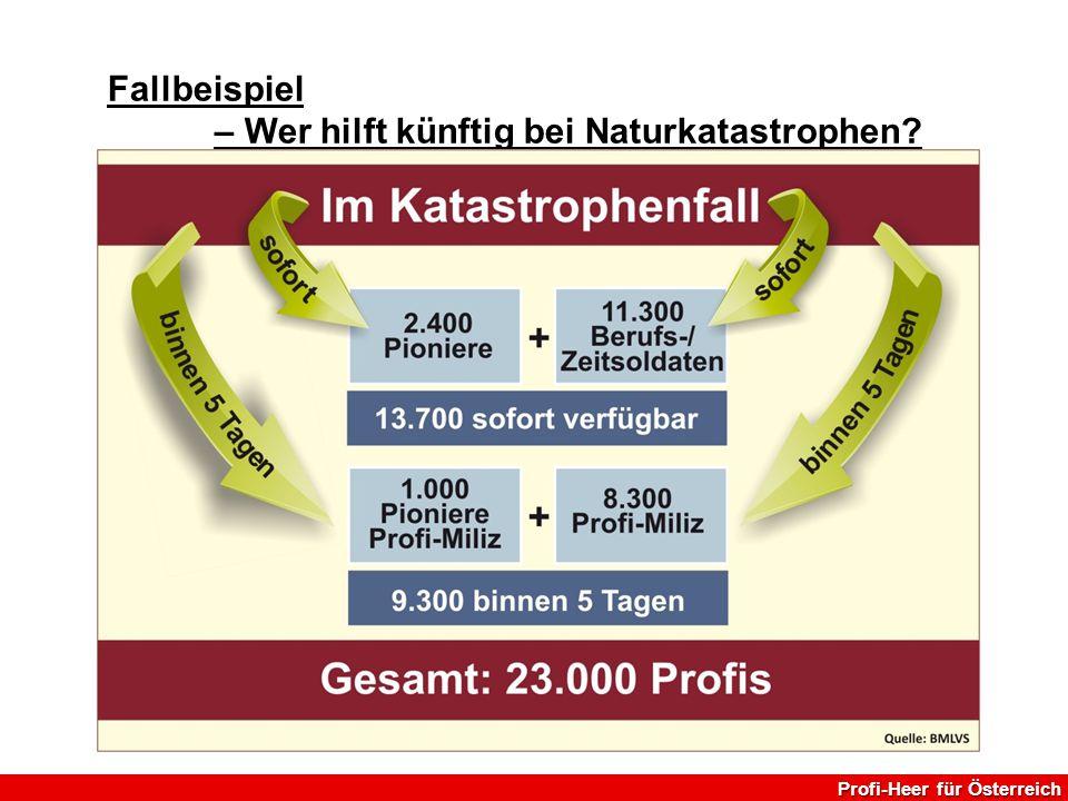 Profi-Heer für Österreich Fallbeispiel – Wer hilft künftig bei Naturkatastrophen?