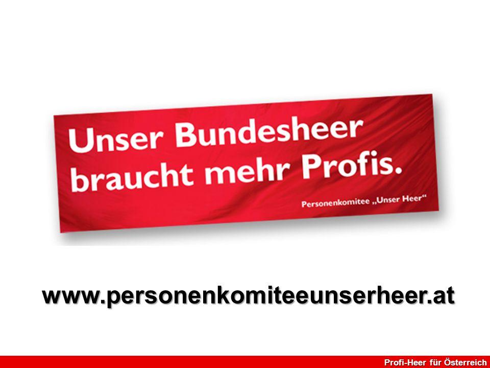www.personenkomiteeunserheer.at Profi-Heer für Österreich