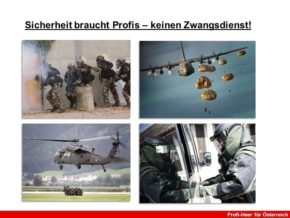 Sicherheit braucht Profis – keinen Zwangsdienst! Profi-Heer für Österreich