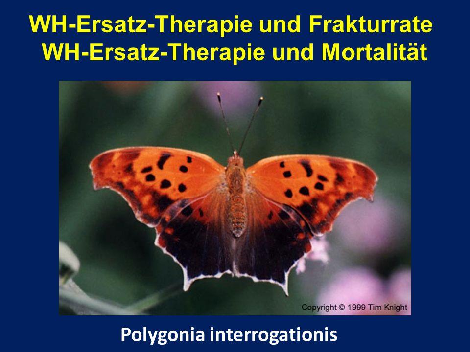WH-Ersatz-Therapie und Frakturrate WH-Ersatz-Therapie und Mortalität Polygonia interrogationis