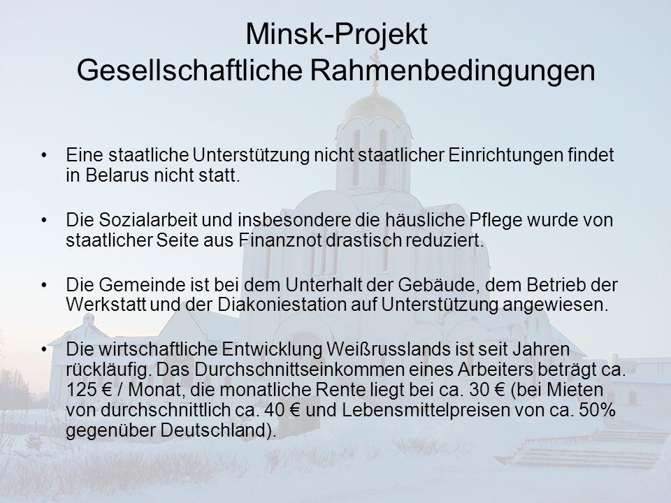 Minsk-Projekt Wie können wir helfen.