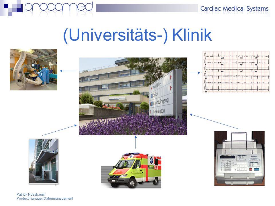Patrick Nussbaum Productmanager Datenmanagement (Universitäts-) Klinik