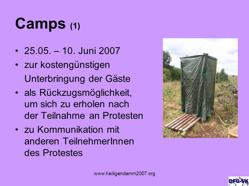 www.heiligendamm2007.org Camps (1) 25.05. – 10.