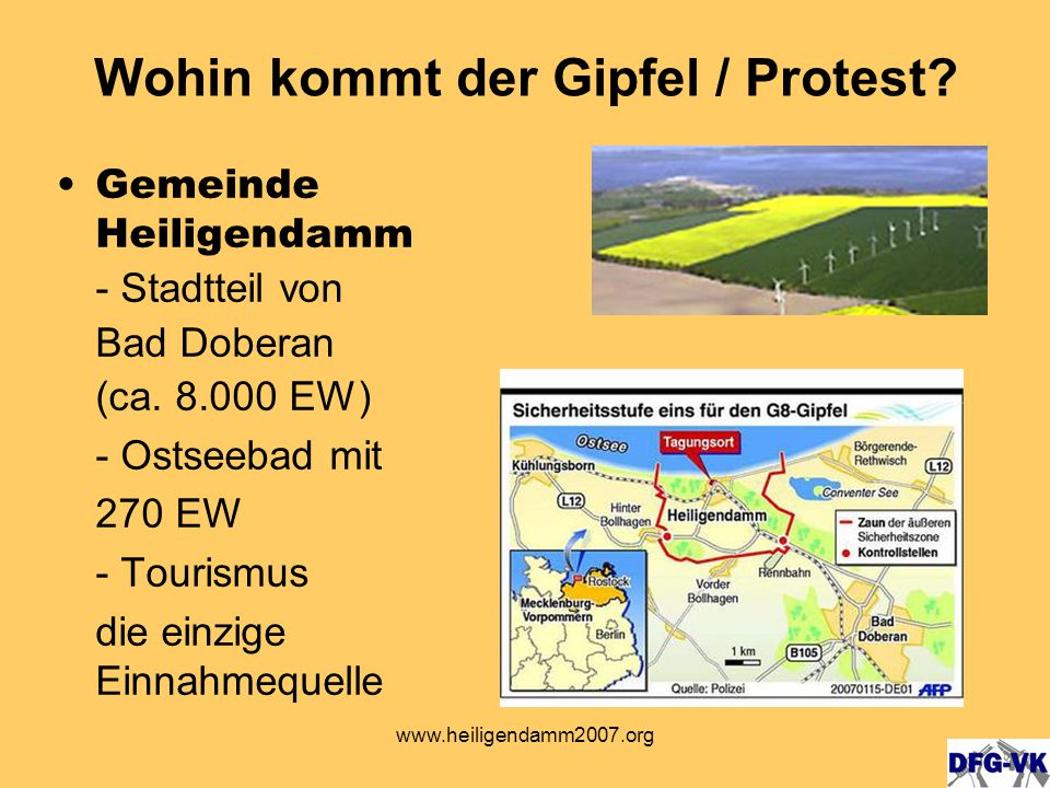 www.heiligendamm2007.org Internationale Demonstration 02.06.2007 Camps 25.05.-10.06.