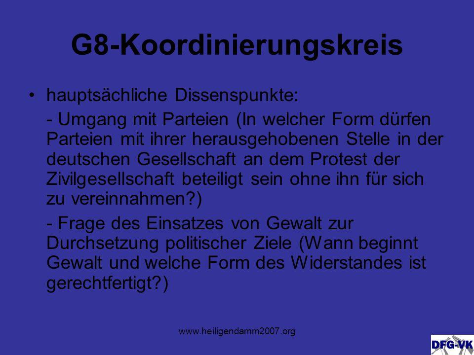 www.heiligendamm2007.org Aktionstage 01.06.– Neubesiedelung des Bombodrom 02.06.