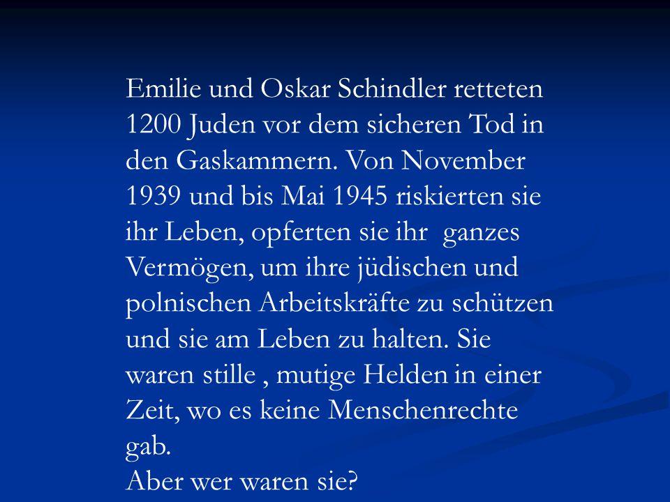 Oskar Schindler und seine Familie in Zwittau