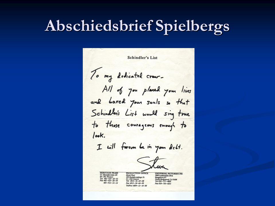 Abschiedsbrief Spielbergs