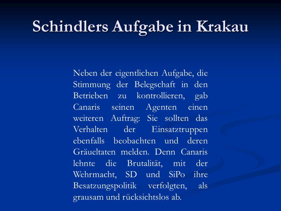 Schindlers Ankauf Kistenfabrik und Krakauer Glashütte, um die Produktion zu erweitern.