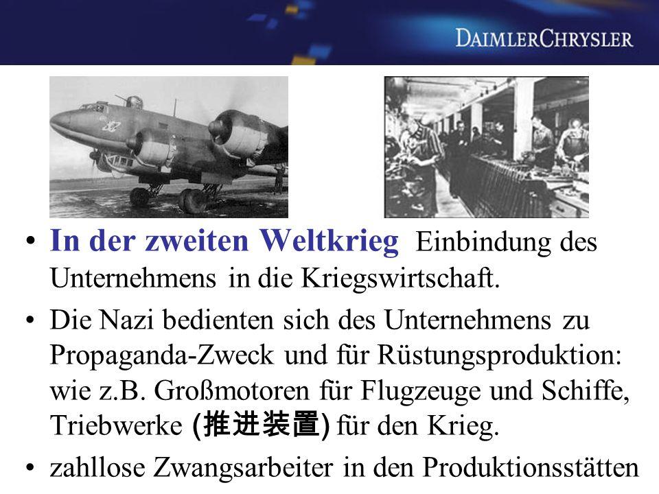 In der zweiten Weltkrieg Einbindung des Unternehmens in die Kriegswirtschaft. Die Nazi bedienten sich des Unternehmens zu Propaganda-Zweck und für Rüs