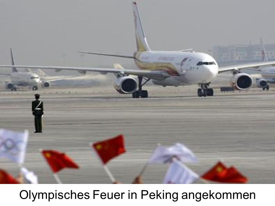 Olympisches Feuer in Peking angekommen
