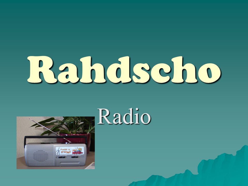 Rahdscho Radio
