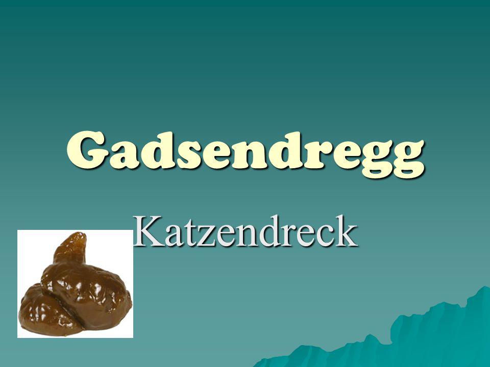 Gadsendregg Katzendreck