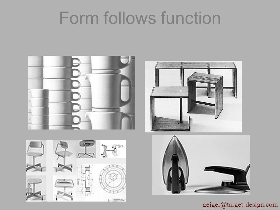 geiger@target-design.com Form follows function