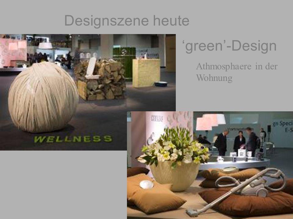 geiger@target-design.com 'green'-Design Athmosphaere in der Wohnung Designszene heute