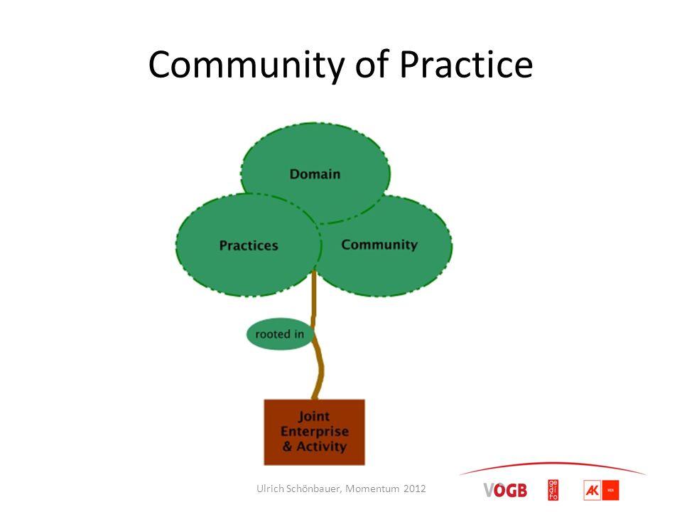 Community of Practice Ulrich Schönbauer, Momentum 2012
