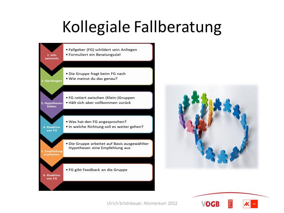 Kollegiale Fallberatung Ulrich Schönbauer, Momentum 2012