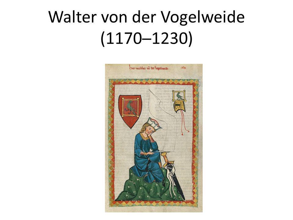 Walter von der Vogelweide (1170─1230)