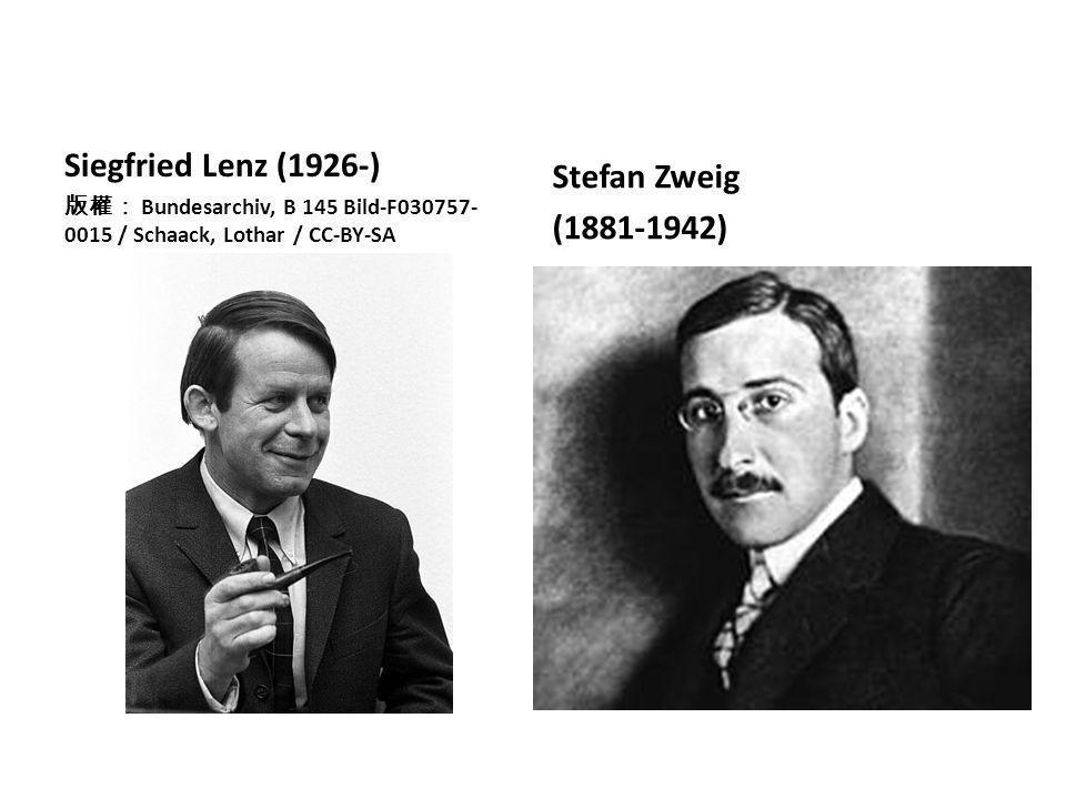 Siegfried Lenz (1926-) 版權: Bundesarchiv, B 145 Bild-F030757- 0015 / Schaack, Lothar / CC-BY-SA Stefan Zweig (1881-1942)