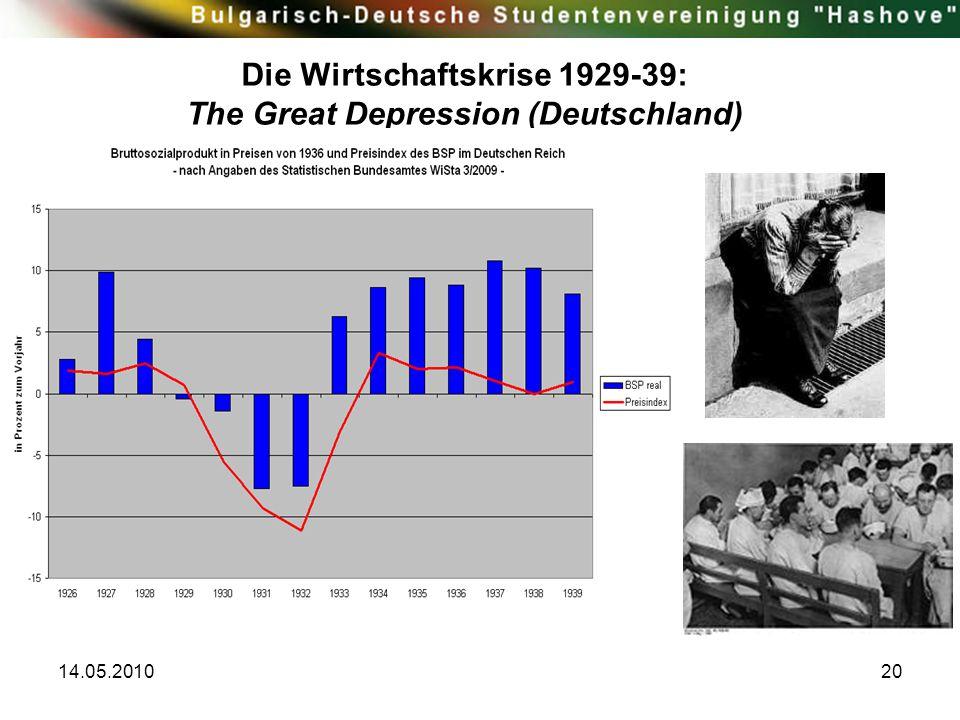 14.05.201020 Die Wirtschaftskrise 1929-39: The Great Depression (Deutschland)