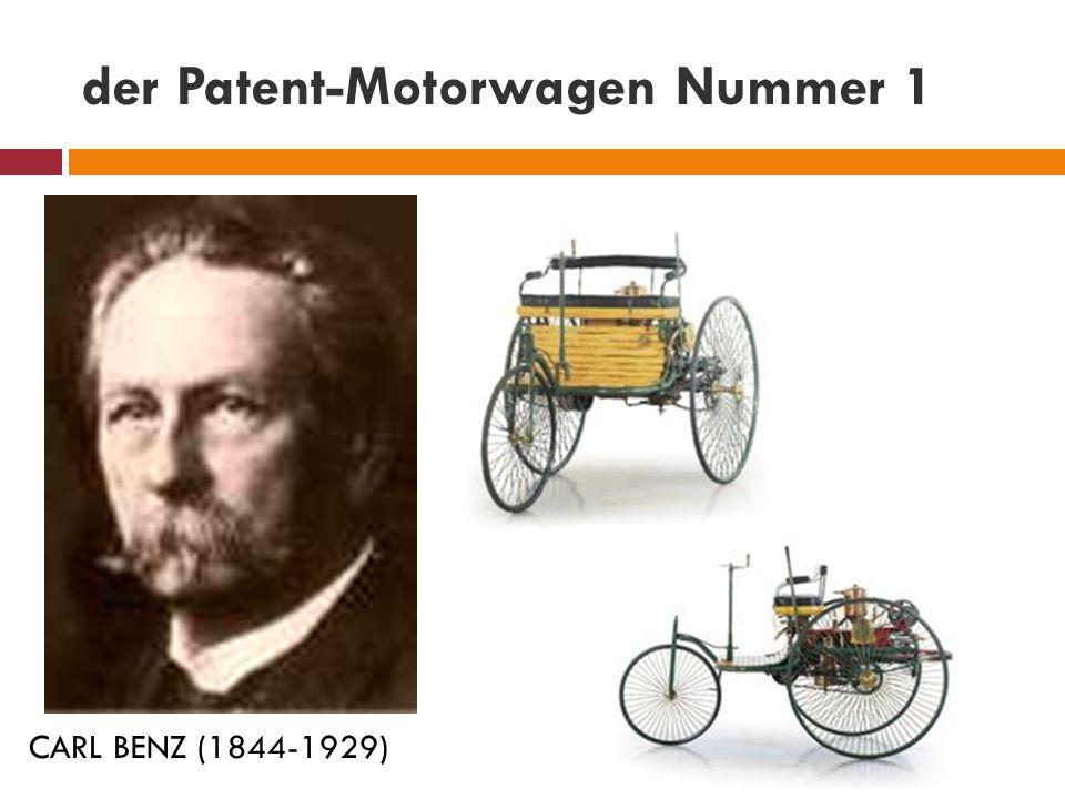 der Patent-Motorwagen Nummer 1 CARL BENZ (1844-1929)