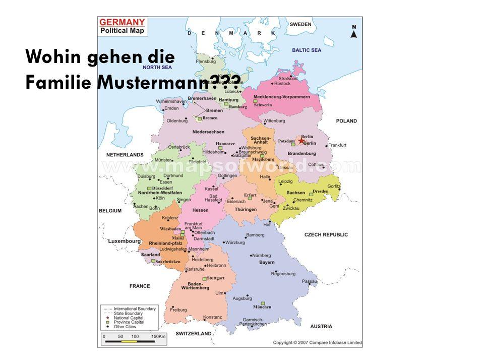 Wohin gehen die Familie Mustermann???