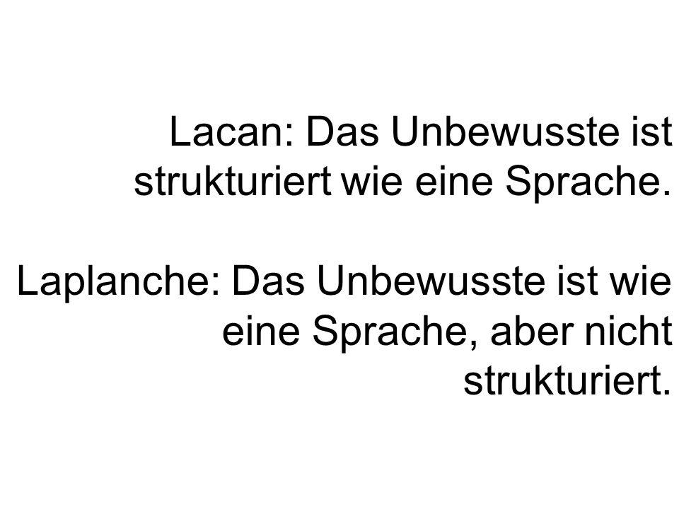 Lacan: Das Unbewusste ist strukturiert wie eine Sprache.