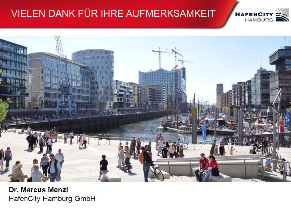 Dr. Marcus Menzl HafenCity Hamburg GmbH VIELEN DANK FÜR IHRE AUFMERKSAMKEIT