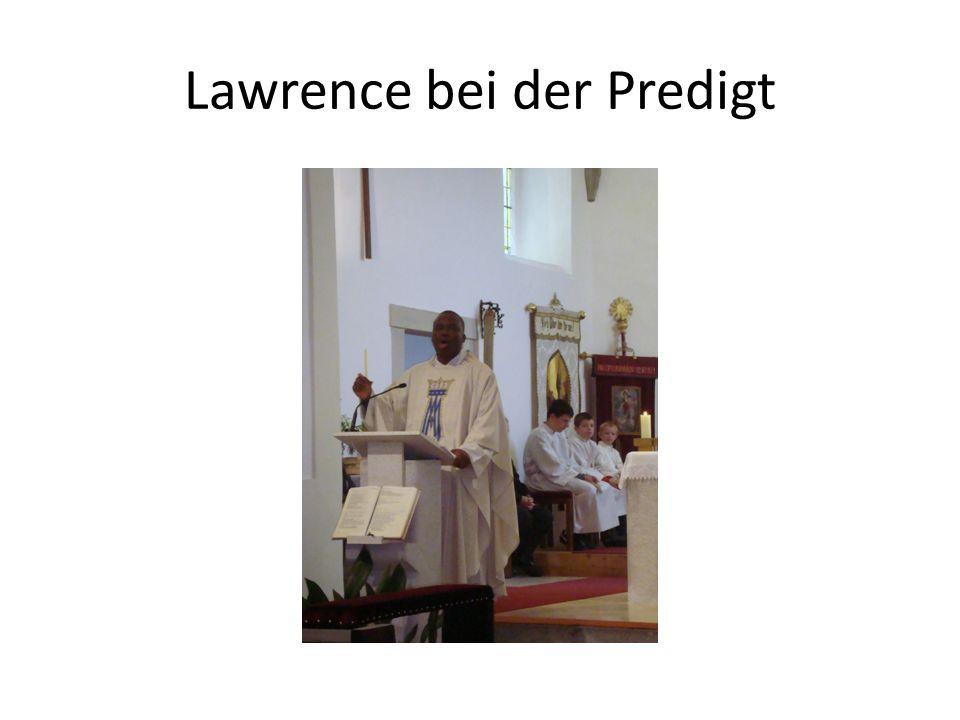 Lawrence bei der Predigt