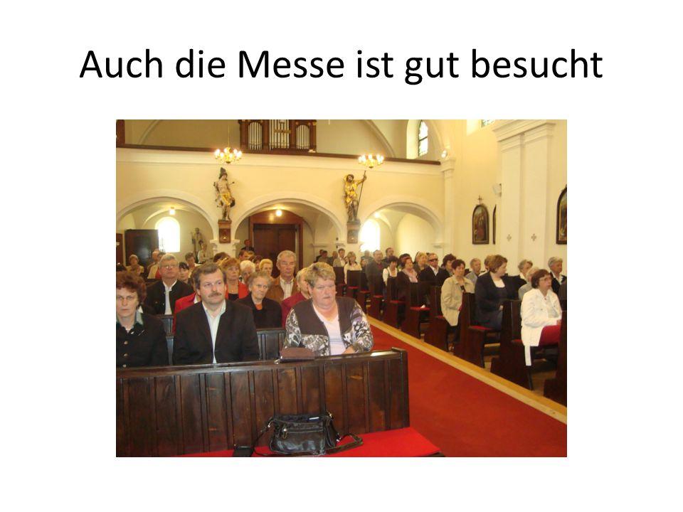 Auch die Messe ist gut besucht