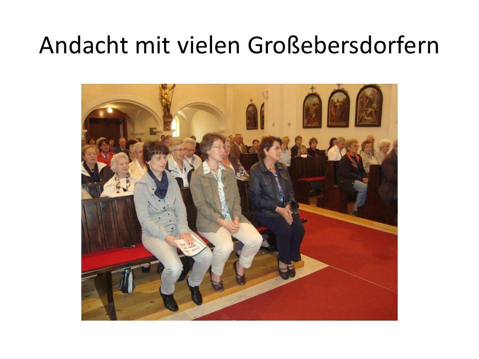 Andacht mit vielen Großebersdorfern