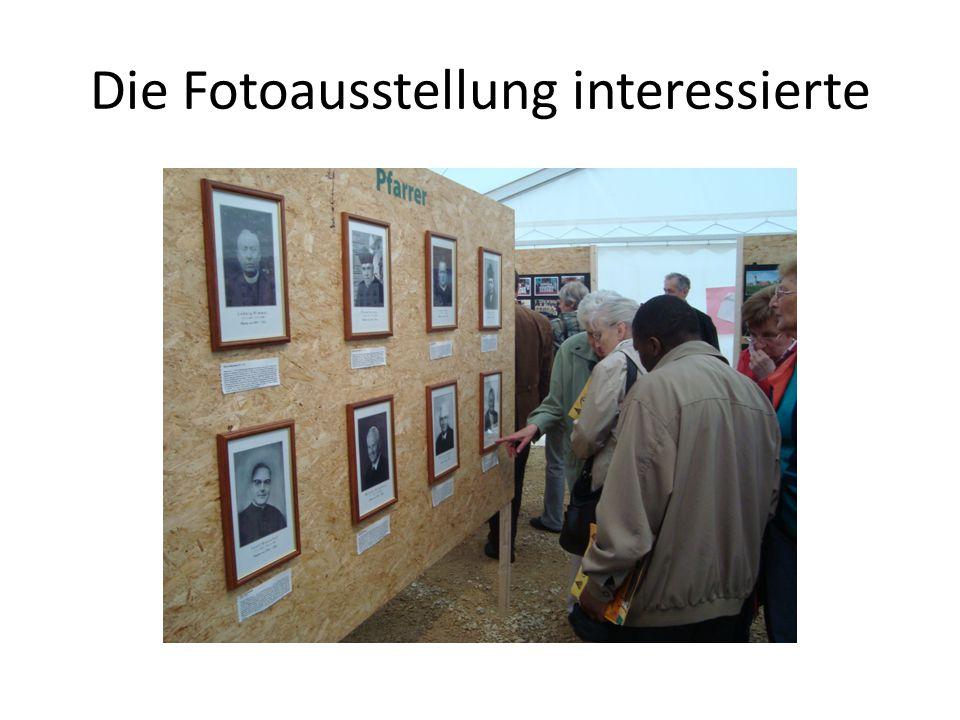 Die Fotoausstellung interessierte