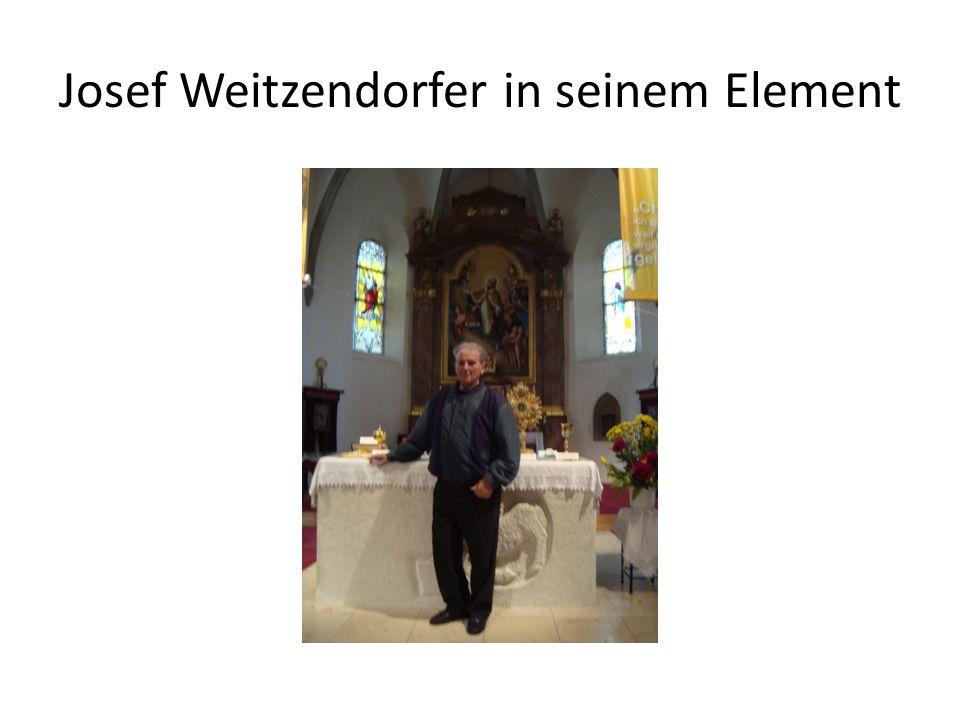 Josef Weitzendorfer in seinem Element