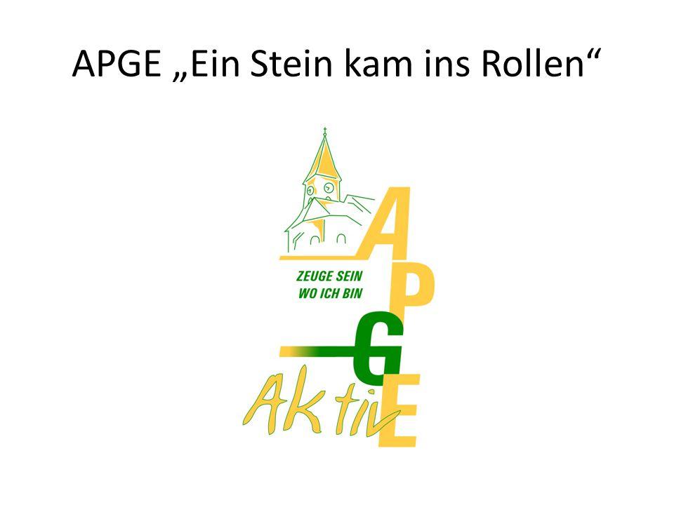 """APGE """"Ein Stein kam ins Rollen"""