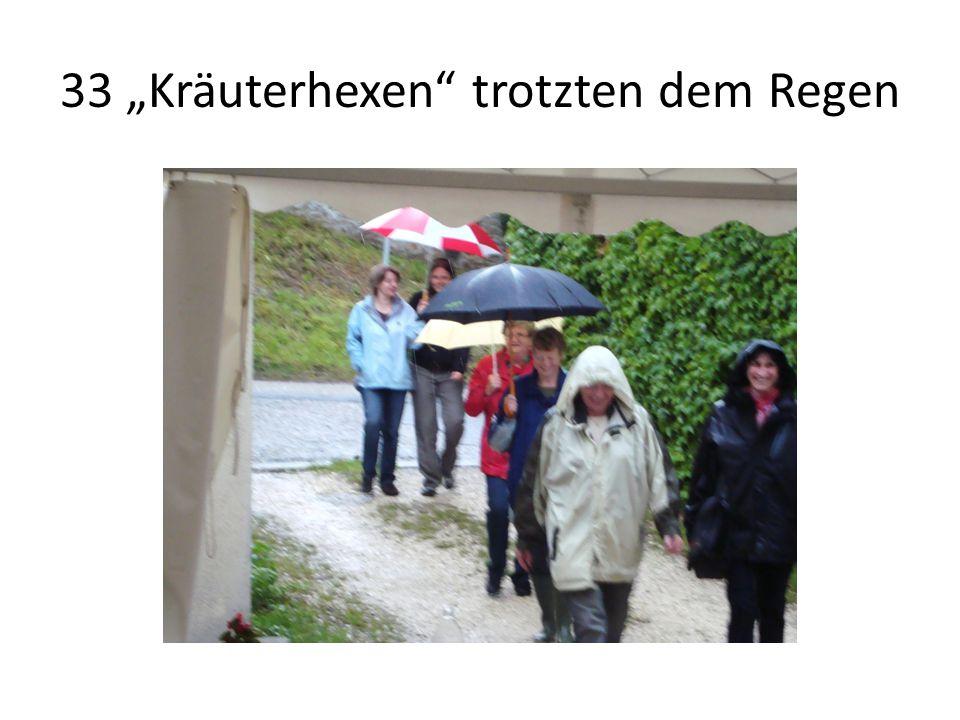 """33 """"Kräuterhexen trotzten dem Regen"""