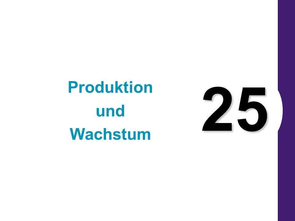 Copyright © 2004 South-Western 25 Produktion und Wachstum