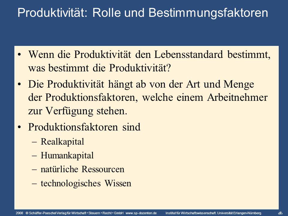 2008 © Schäffer-Poeschel Verlag für Wirtschaft Steuern Recht GmbH www.sp-dozenten.de Institut für Wirtschaftswissenschaft.