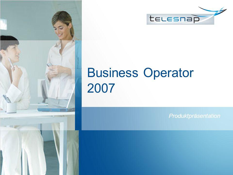 Business Operator 2007 Produktpräsentation