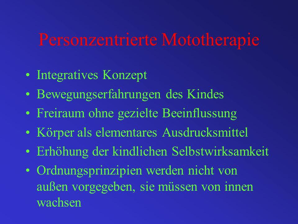 """Bewegungsorientierte Verfahren Psychomotorische Übungsbehandlung (Kiphard, 1976 ) """" Reichhaltiges Bewegungsangebot zur Stillung des vestibulären Reizh"""