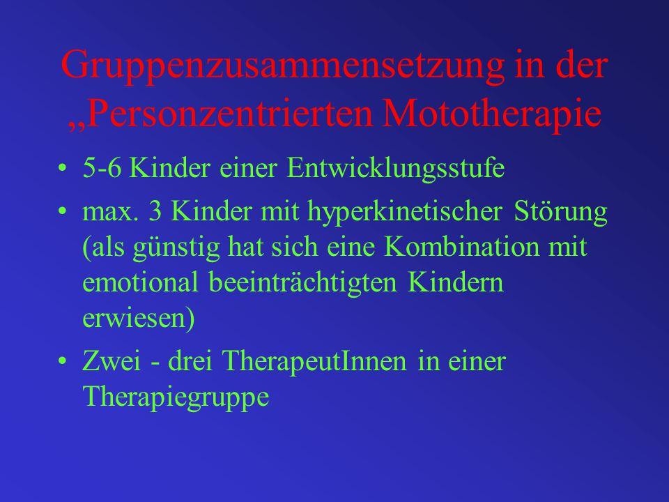 Personzentrierte Mototherapie Integratives Konzept Bewegungserfahrungen des Kindes Freiraum ohne gezielte Beeinflussung Körper als elementares Ausdruc