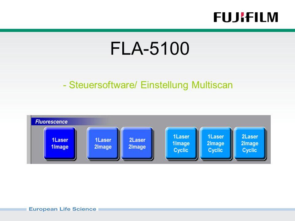 FLA-5100 - Steuersoftware/ Einstellung Multiscan