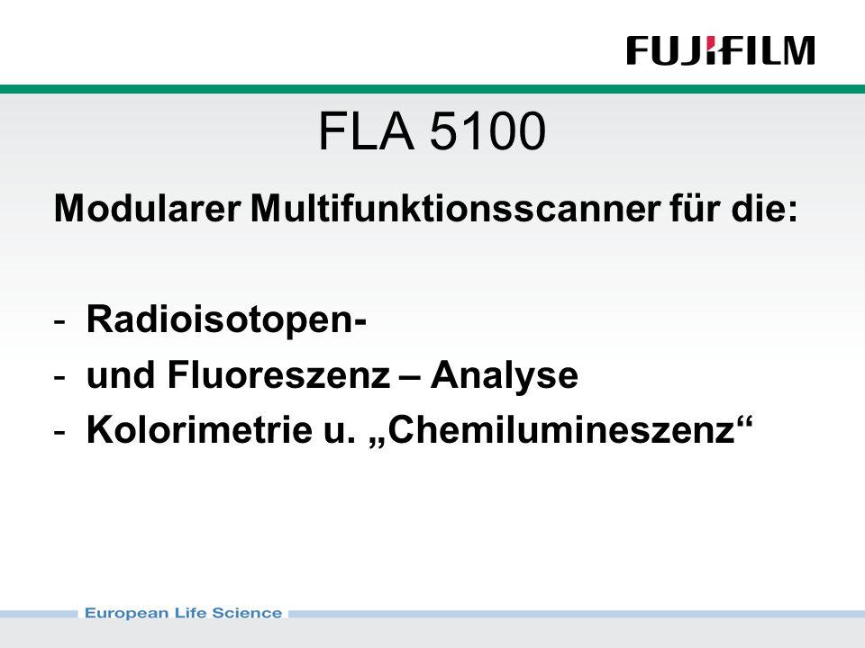 Modularer Multifunktionsscanner für die: -Radioisotopen- -und Fluoreszenz – Analyse -Kolorimetrie u.