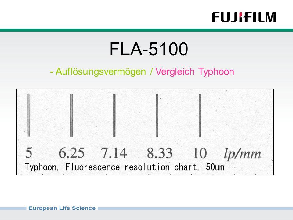 FLA-5100 - Auflösungsvermögen / Vergleich Typhoon
