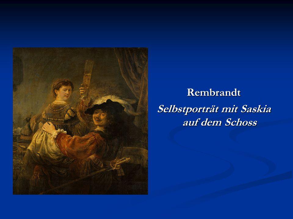 Rembrandt Selbstporträt mit Saskia auf dem Schoss
