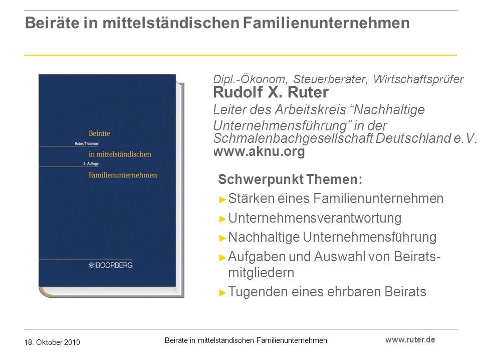 Beiräte in mittelständischen Familienunternehmen 18.