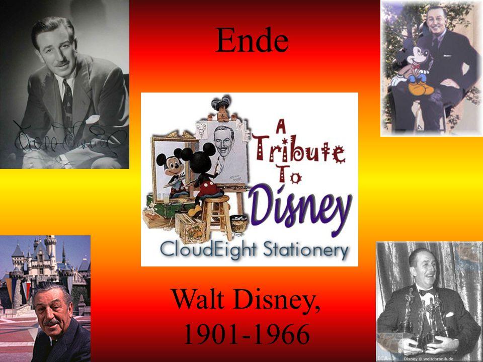 Die letzten Jahre von Walt Disney