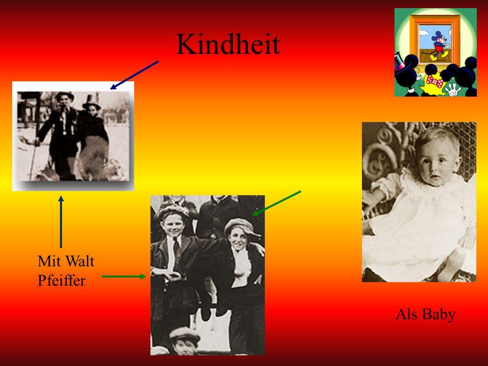 Walt Disney (1901-1966) 1.Einleitung 2.Stammbaum 3.Kindheit 4.Mit dem Roten Kreuz in Europa 5.Kansas City: Anfang einer einmaligen Karriere 6.Hollywoo