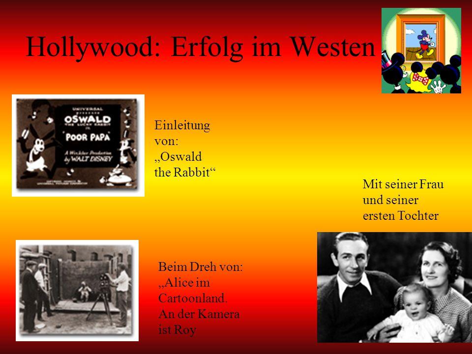 """Hollywood: Erfolg im Westen Mit seiner Frau und seiner ersten Tochter Beim Dreh von: """"Alice im Cartoonland."""