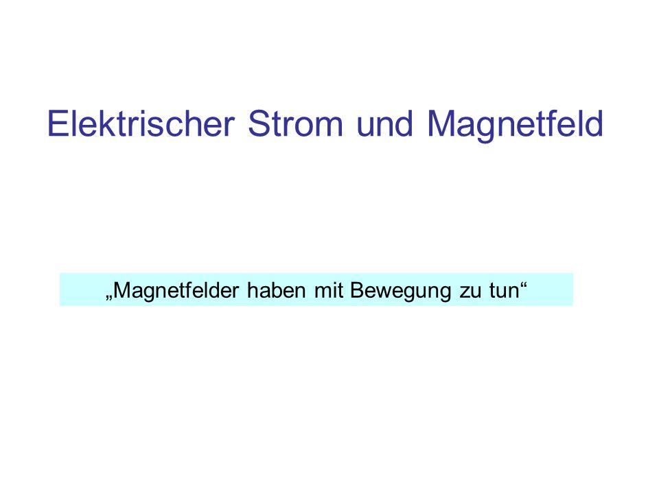 """Elektrischer Strom und Magnetfeld """"Magnetfelder haben mit Bewegung zu tun"""""""