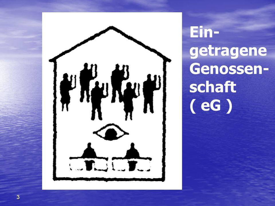 3 Ein- getragene Genossen- schaft ( eG )