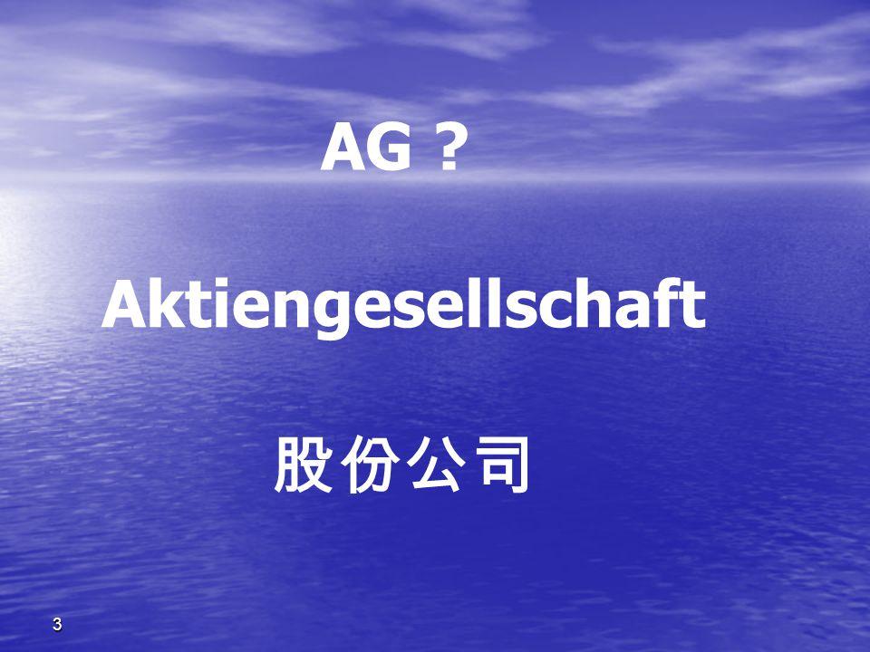 3 AG ? Aktiengesellschaft 股份公司